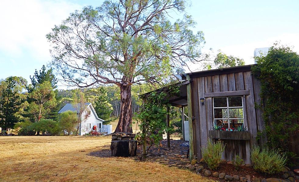 Rustic BBQ hut
