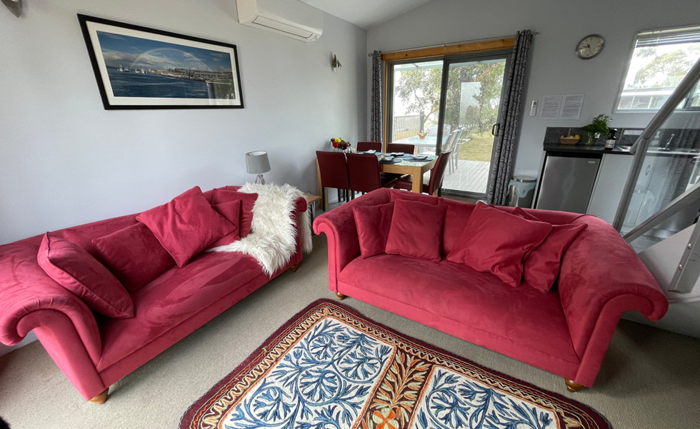 Lounge room in the Family Chalet