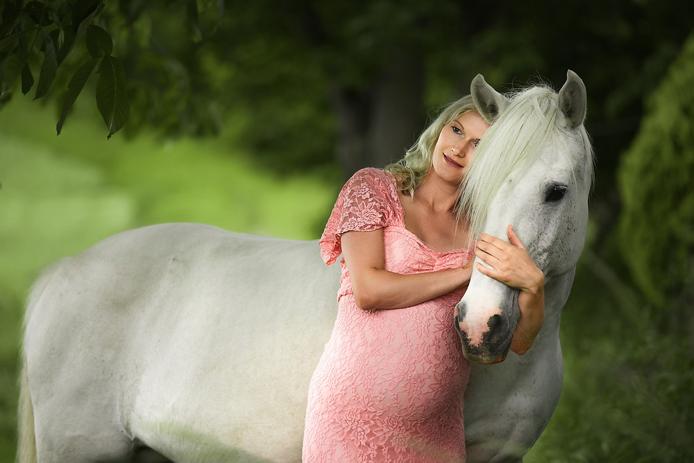 Babybauch Fotografie Halle Pferd