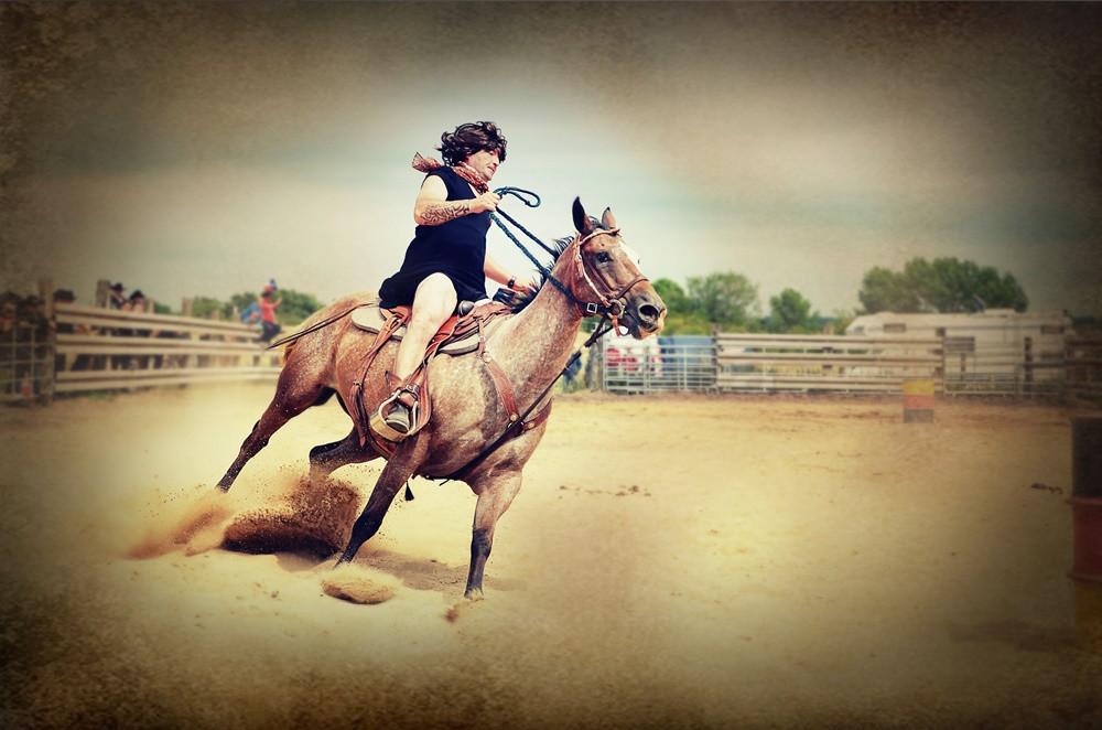 Western Horse Sea Horse Ranch Halle Lettin Cowboy