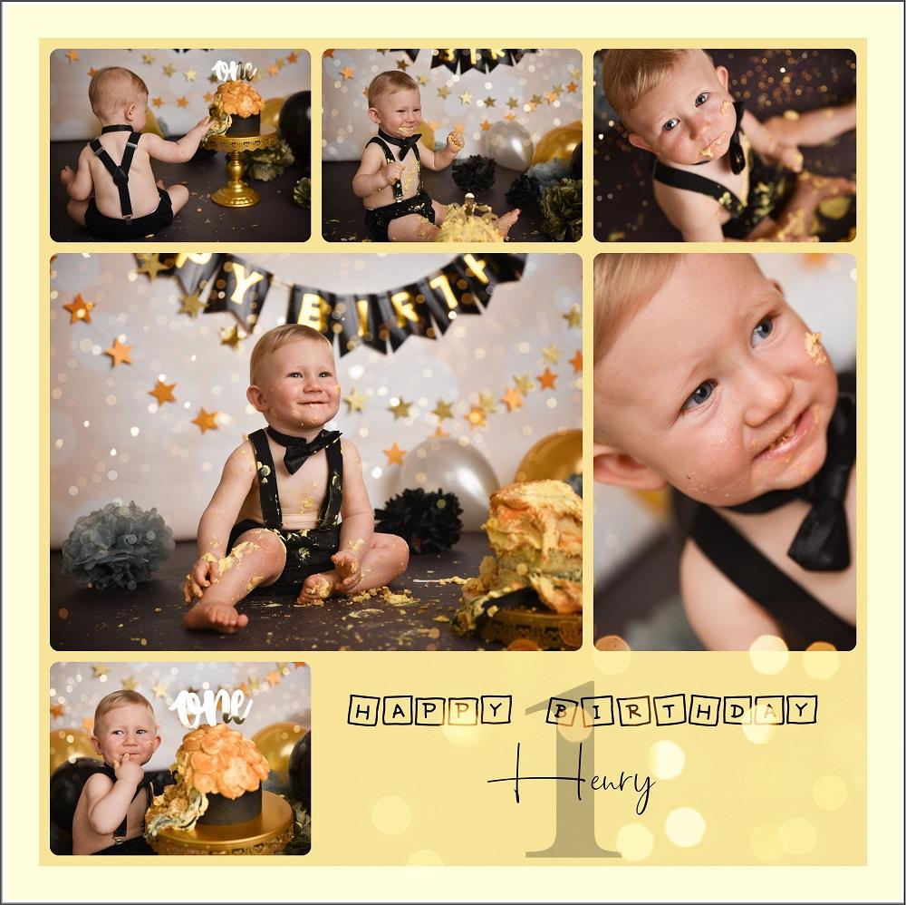 Schwarz Gold Deko Kuchen Baby Geburt