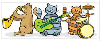 royalty free clipart live band go graph.