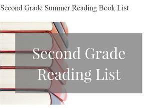 Second Grade Summer Reading List