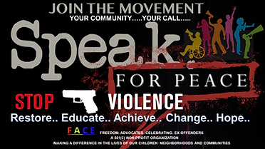 Speak For Peace_ Your Community...Your C