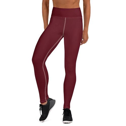 Women's Dark Red Leggings