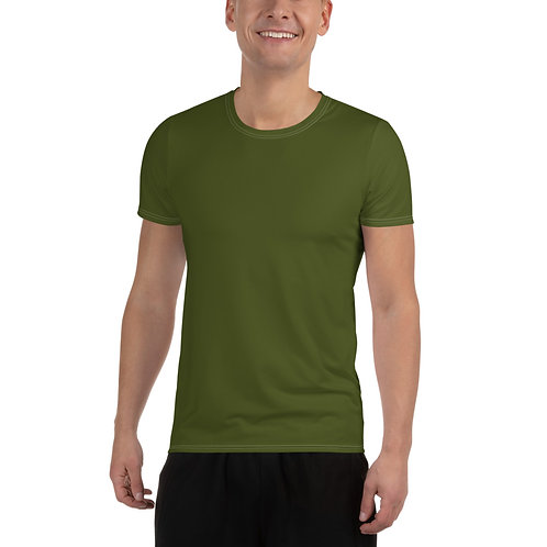 Men's Military Green Moisture Wicking Shirt