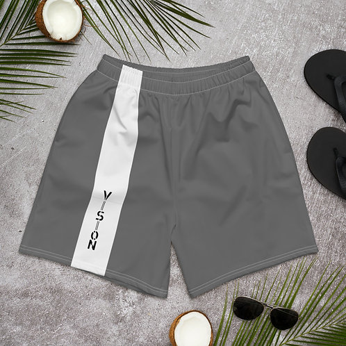 Men's Striped Athletic Shorts