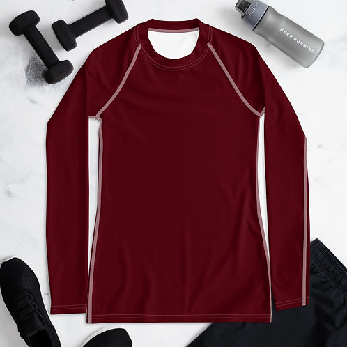Women's Dark Red Compression Shirt