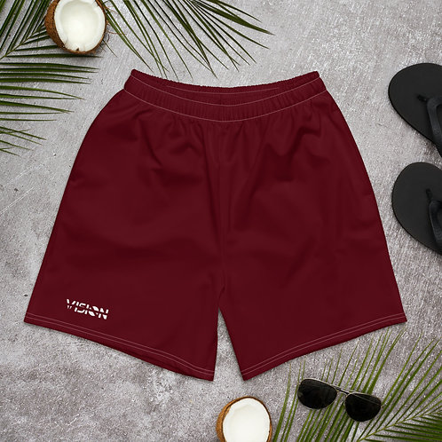 Men's Dark Red Board Shorts
