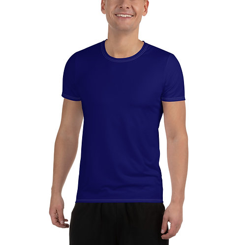Men's Blue Moisture Wicking Shirt