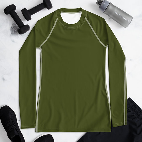 Women's Military Green Compression Shirt