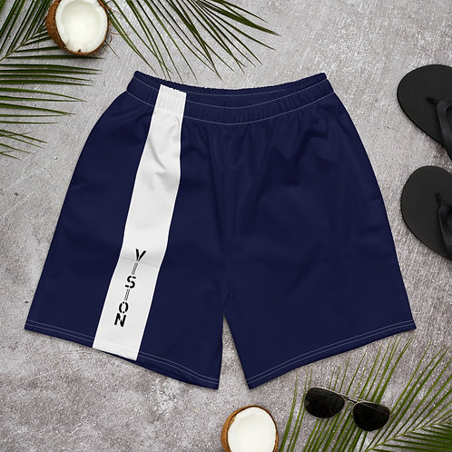 Mens Striped Athletic Shorts