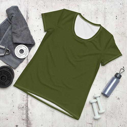 Women's Military Green Moisture Wicking Shirt