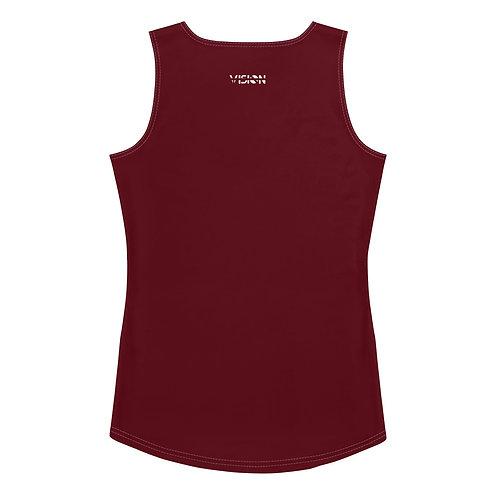 Women's Dark Red Tank Top
