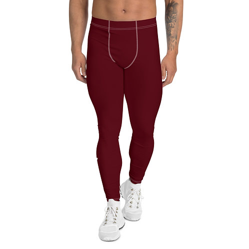 Men's Dark Red Leggings