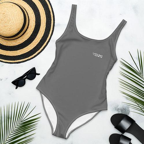 Grey One-Piece Swimsuit