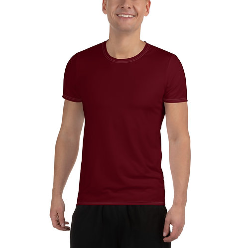 Men's Dark Red Moisture Wicking Shirt