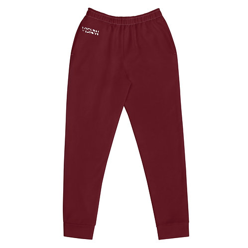 Women's Dark Red Joggers