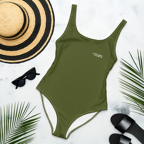 Military Green One-Piece Swimsuit