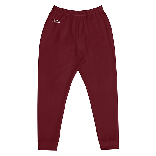 Men's Dark Red Joggers