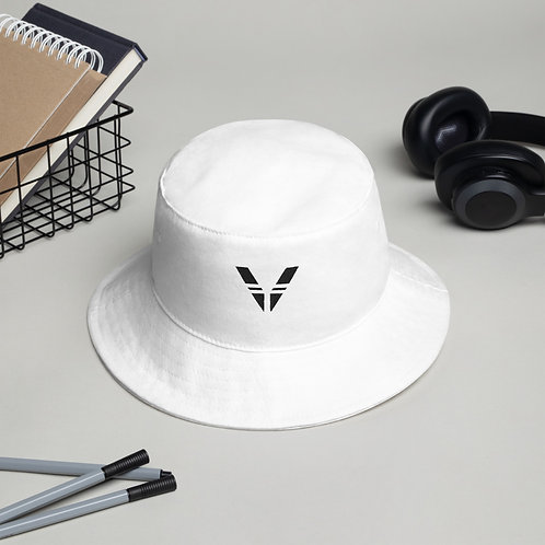 V Bucket Hat White