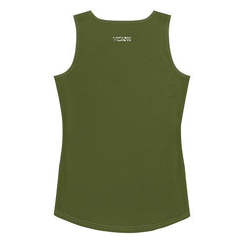 Women's Military Green Tank Top