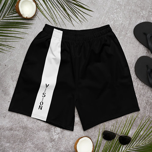 Men's Striped Athletic Shorts