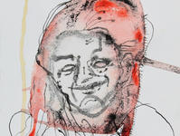 A Study of Viviane no. 3  Indian ink and aquarelle on paper 15*13 cm A detail from a series May 2017
