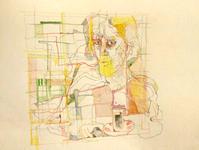 A Memory from a Tea Room  Pencil and aquarel on parer, 22*20 cm November 2017