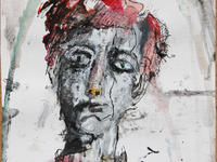 Rimbaud, Eyes Open  Indian ink, acrylic paint, aquarel on paper 30*35 cm October 2019
