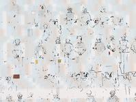 Under a Stuffed Bear no. 4  Screen print and aquarel on paper 25*27 cm November 2018