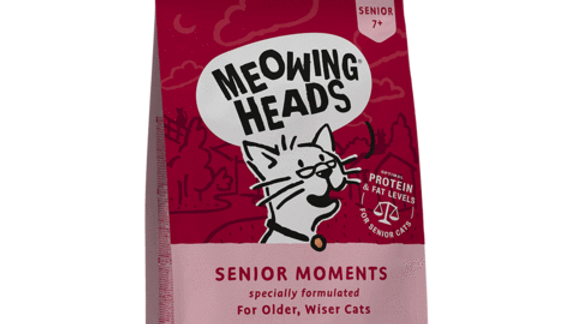 Meowing Heads Senior Moments Cat Food 450g