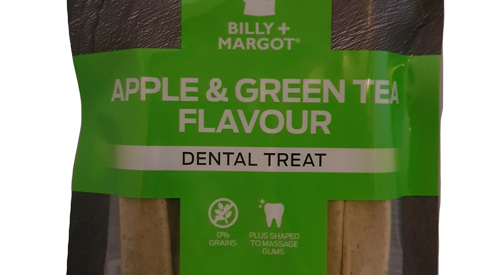 Billy and Margot Apple and Green Tea Flavour Dental Treats