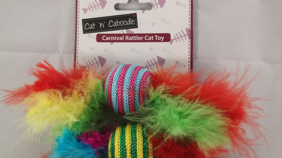 Carnival Rattler Cat Toy 2pcs