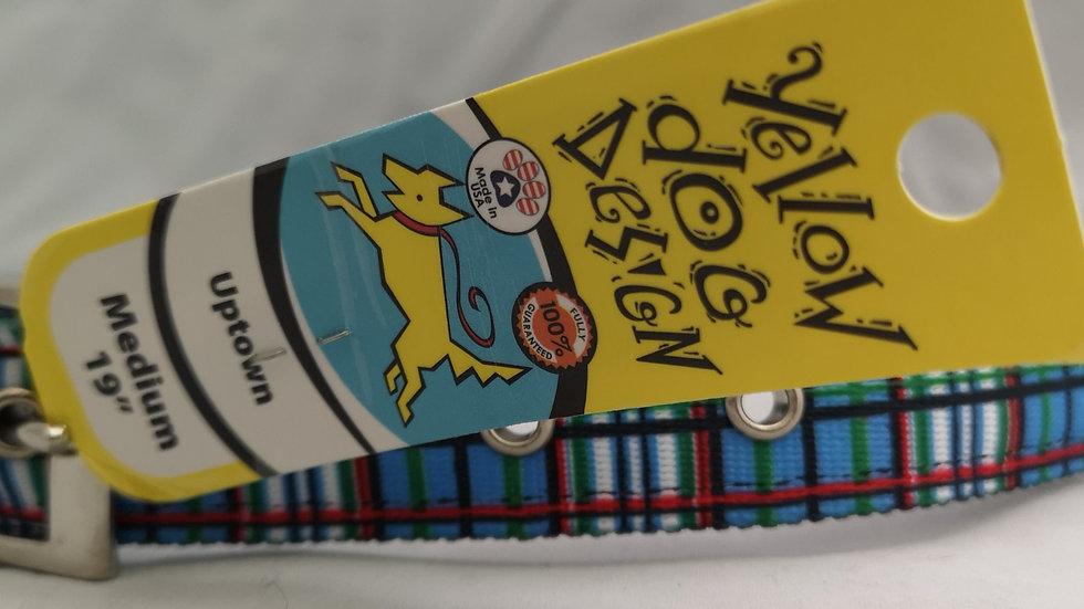 Blue Tartan Dog Collar