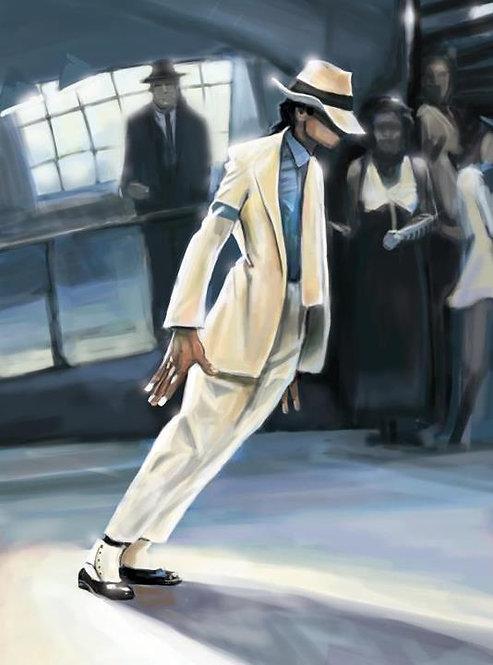 "MJ 'Smooth Criminal'  16"" x 20"""