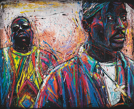BIGGIE AND 2 PAC (HIGH QUALITY PRINT)