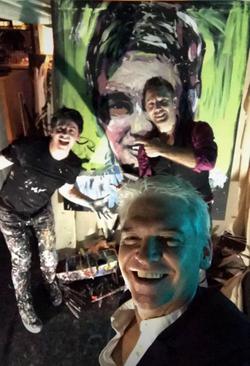 'Peter Schofield, Gino and I Selfie!