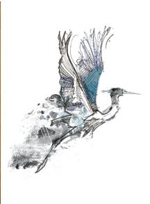 "'Heron' 8"" x 10"" SINGLE PRINT"