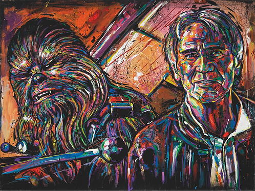 HAN AND CHEWIE (HIGH QUALITY PRINT)