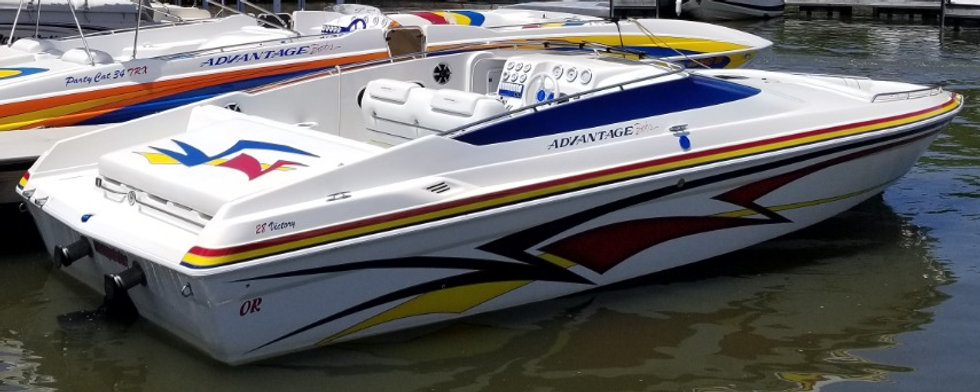 Decked Out Customs Advantage 28 Victory Boat