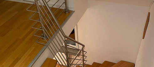 Treppe ins Wohnzimmer