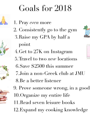 My Goals for 2018