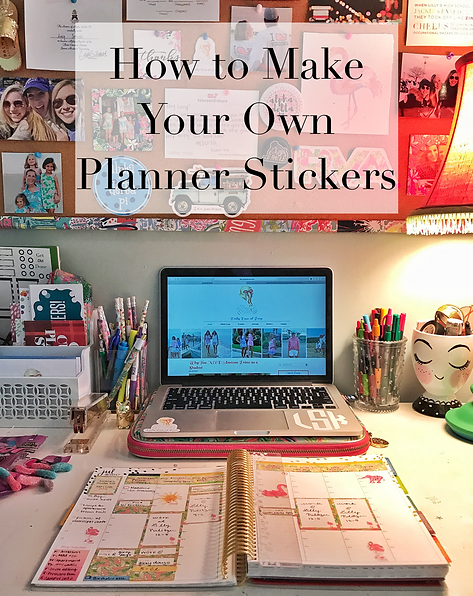 How to make planner stickers step by step tutorial create your own stickers  diy planner hack