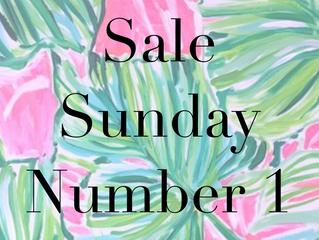 Sale Sunday No. 1