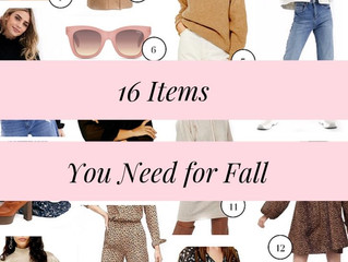 16 Things You Need for Fall