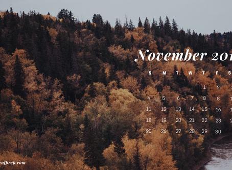 November Backgrounds