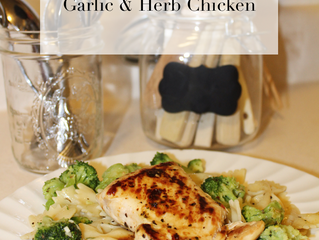 Daily Dose Cooks: Garlic & Herb Chicken
