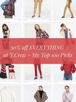 30% Off EVERYTHING at J. Crew