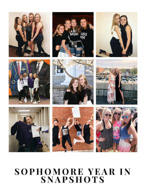 Sophomore Recap in Snapshots
